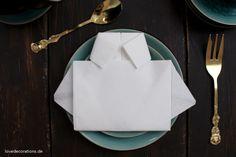 DIY Servietten Hemden falten zum Vatertag // DIY Napkin Folding T-Shirt