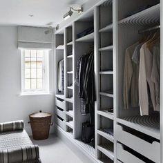 Walk In Wardrobe Design for Bedroom. Walk In Wardrobe Design for Bedroom. Closet Walk-in, Closet Storage, Bedroom Storage, Closet Ideas, Closet Organization, Organization Ideas, Wardrobe Storage, Wardrobe Organisation, Closet Doors