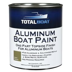 Topside paint that prevents abrasion and corrosion on aluminum and galvanized metals. Fast drying, low-sheen finish does not require priming. Aluminum Boat Paint, Kayaking Tips, Whitewater Kayaking, John Boats, Boat Restoration, Travel Trailer Remodel, Duck Boat, Boat Projects, Bass Boat