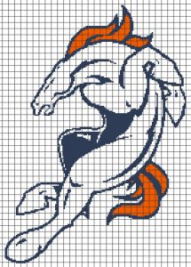 Denver Broncos 156x217grid Crochet Graphghan Pattern (Chart/Graph AND Row-by-Row Written Instructions) - 02