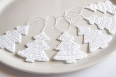 Hanging Christmas decorations Crochet Christmas by Edangra on Etsy, $11.90