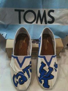 Handpainted Toms University of Kentucky Wildcats by KyGirlShop, $75.00*