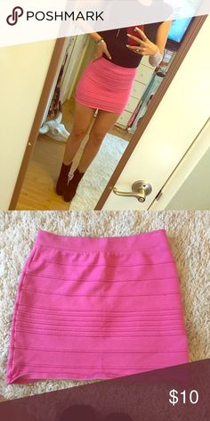 Barbie Pink Bandage Skirt Hot pink bandage skirt. Have had for years but has only been worn twice. Still in really good condition! Not Forever 21 but similar in style. Forever 21 Skirts Mini