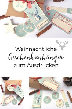 Holt euch diese schicken Geschenkanhänger für eure Weihnachtspäckchen!