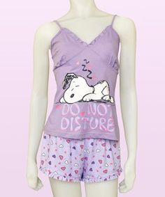 snoopy clothes for women | Snoopy Peanuts Do Not Disturb Official Womens Pyjama Vest & Shorts Set ...