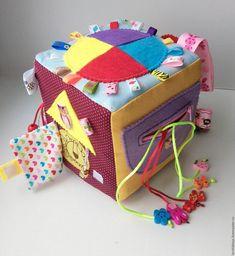 Купить Развивающий кубик - разноцветный, развивающая игрушка, развивающий кубик, развивающая книжка, развивайка, развивашка