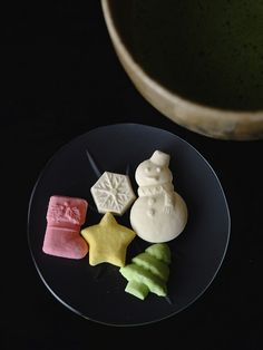 Japanese dry confectionery Higashi for Christmas. Merry Christmas!