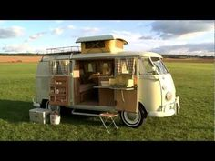 Volkswagen 1952 Panel Van with Westfalia Camping Box interior and 1967 T2 Split Screen Westfalia