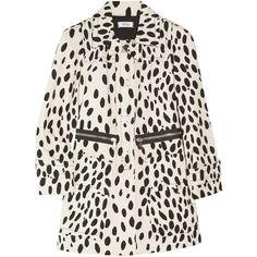 Sonia by Sonia Rykiel Dalmatian-print cotton-drill coat found on Polyvore