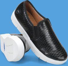 e1ad63c5e0e40a Womens Adela in Black Reptile Loafer Shoes