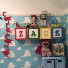 Story Themed Baby Boy Nursery Toy Story themed nursery - I can't even begin to explain how much I love this!Toy Story themed nursery - I can't even begin to explain how much I love this! Baby Bedroom, Baby Boy Rooms, Baby Bedding, Baby Boy Nurseries, Nursery Room, Nursery Ideas, Childrens Bedroom, Bedroom Toys, Baby Boy Nursery Themes