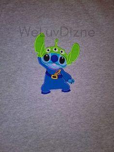 c8621e02 Stitch Alien Toy Story Applique Shirt birthday Disney vacation matching  family shirts by WeLuvDizne -