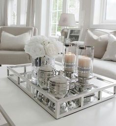 37 Best Coffee Table Decorating Ideas and Designs for Pretty Ways to Style. 37 Best Coffee Table Decorating Ideas and Designs for Pretty Ways to Style a Coffee Table, Designer Tips for Styling Your Coffee Table, How To Decorate A Coffee Table, Coffee Table Styling, Cool Coffee Tables, Decorating Coffee Tables, Coffee Table Design, Coffee Table Centerpieces, Coffee Table Tray Decor, How To Decorate Coffee Table, Centerpiece Ideas, Coffee Tray