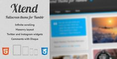 Review Xtend, Fullscreen and Modern Theme for Tumblrtoday price drop and special promotion. Get The best buy