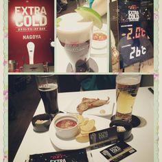 Nagoya's Extra Cold Bar by Asahi Beer. エクストラコールドBAR名古屋!   always on http://extracoldbar.tumblr.com