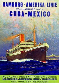 Hamburg-Amerika Hamburg Cuba Mexico 1899 - www.MadMenArt.com features over 500…