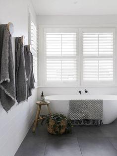 Home Decor Living Room .Home Decor Living Room Grey Bathrooms, Beautiful Bathrooms, Modern Bathroom, Small Bathroom, Dyi Bathroom, Stone Bathroom, Bathroom Styling, Bathroom Renovations, White Bathroom Wall Tiles