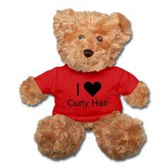 I (Heart) Curly Hair teddy bear ~ $28.99. #naturalhair #curlyhair #gifts