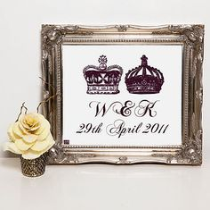 Personalised Royal Wedding Fine Art Print by More Than Words