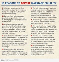 10 super duper reasons to oppose marriage equality.