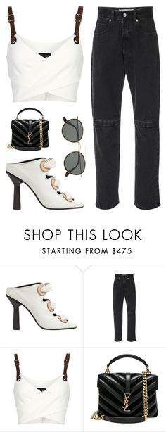 """Untitled #2194"" by fashionwwonderland ❤ liked on Polyvore featuring J.W. Anderson, Christopher Kane, Barbara Bui, Yves Saint Laurent and Ray-Ban"