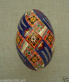 "Ukraine Pysanka by Oleh K GOOSE Easter Egg Height 3 3"" in Pysanky 
