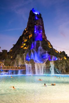 Volcano Bay water park at nightYou can find Water parks and more on our website.Volcano Bay water park at night Vacation Places, Vacation Trips, Dream Vacations, Vacation Spots, The Places Youll Go, Cool Places To Visit, Places To Go, Volcano Bay Orlando, Orlando Travel
