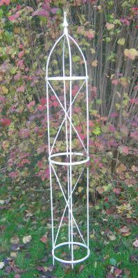 Decorative Wrought Iron Garden Obelisk Plant Supports These Are Strong Solid Fully Welded Structures Made In Es Uk