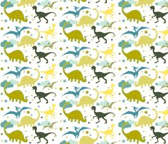 Dinosaurs fabric by theboutiquestudio on Spoonflower - custom fabric
