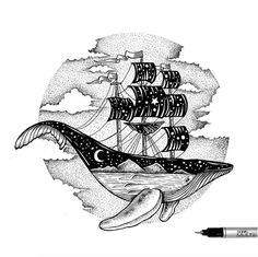 Ballena barco #arte