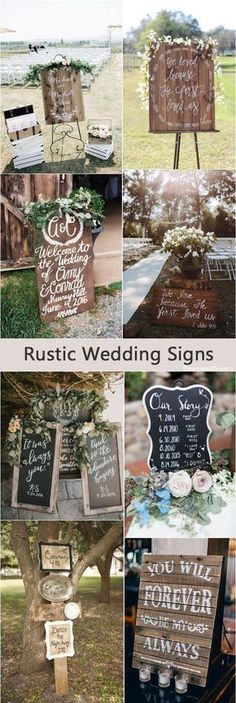 Rustic country wedding signs & ideas / http://www.deerpearlflowers.com/rustic-wedding-details-and-ideas/ #weddingideas