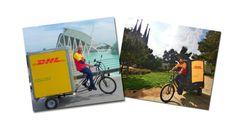 Triciclos de DHL para el reparto urbano