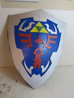 Make the Hylian Shield using cardboard - The Zelda Shield, handy.