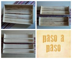 Papeles Pequeños: Cajón de frutas reutilizado diy shelves
