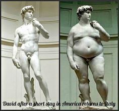 David after a short stay in America returns to Italy :)