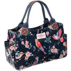 Brand New Cath Kidston British Bird Hand Bag / Day Bag --Black | eBay