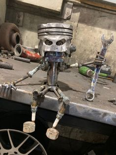 Your place to buy and sell all things handmade Welding Art Projects, Metal Art Projects, Metal Crafts, Blacksmith Projects, Garage Furniture, Car Part Furniture, Recycled Metal Art, Scrap Metal Art, Car Part Art