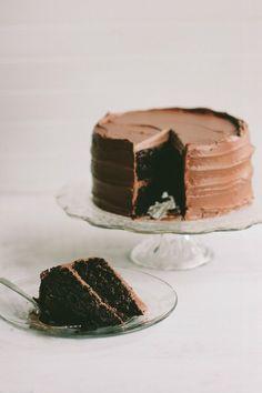 the chocolate cake / The Vanilla Bean Blog