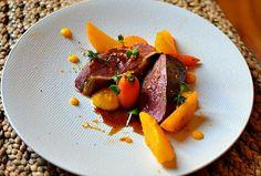 Magret de canard à l'orange gastronomique, navets boule d'or et carottes