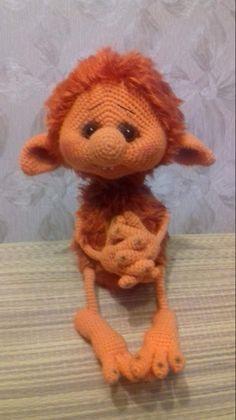Amigurumi crochet baby monkey by ingrid – ArtofitMultiple crafts and mediums for Face book ! Crochet Home, Cute Crochet, Crochet Crafts, Crochet Baby, Crochet Projects, Knit Crochet, Knitted Dolls, Crochet Dolls, Crochet Dragon