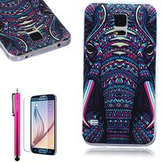 S5 Case,Full Protective [ Flexible] Unique Case [Ultra Slim] Durable Soft TPU Gloss Cover [Great Fit] Elegant Pattern Clear Cover Case For Samsung Galaxy S5 :: Logitech Z4 Speakers