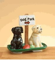 Dog Park Salt and Pepper Shakers