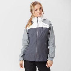 Be prepared for sudden downpours with the Stratos Waterproof Jacket by The North Face. A classic waterproof shell jacket designed to keep you dry and comfortable even in wettest of weather. North Face Women, The North Face, Rain Wear, Hooded Jacket, Rain Jacket, Windbreaker, Sexy, How To Wear, Jackets