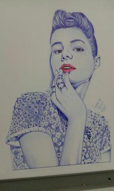 Arte na canetas esferográfica #BicBrasil @lierbethsousa_art #boligrafo Concluído.