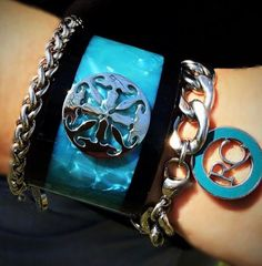 Turquoise, the color of summer! Rustic Cuff, Heart Charm, Cuff Bracelets, Charmed, Turquoise, Color, Cuffs, Jewelry, Summer