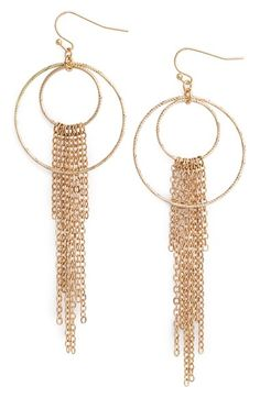 Nordstrom Fringe Frontal Hoop Earrings available at #Nordstrom