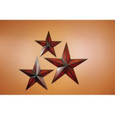 Charmant Star Wall Decor Collections Etc Mirrored Barn Star Wall Decor Trio | Star  Wall