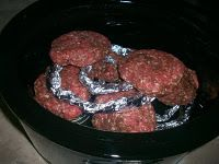 Crock pot burgers. They sound amazing and this lady is brilliant!