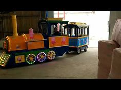 Kids indoor playground equipment supplier in China, how to open business about track train for kids, price of children trackless train in Zhengzhou China. Trains For Sale, Shopping Malls, Amusement Parks, Train Rides, Peppa Pig, Miniature, Track, China, Youtube