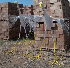 recycled metal bird sculptures - Google Search